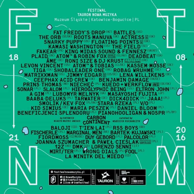 tauron nowa muzyka 2016 lineup
