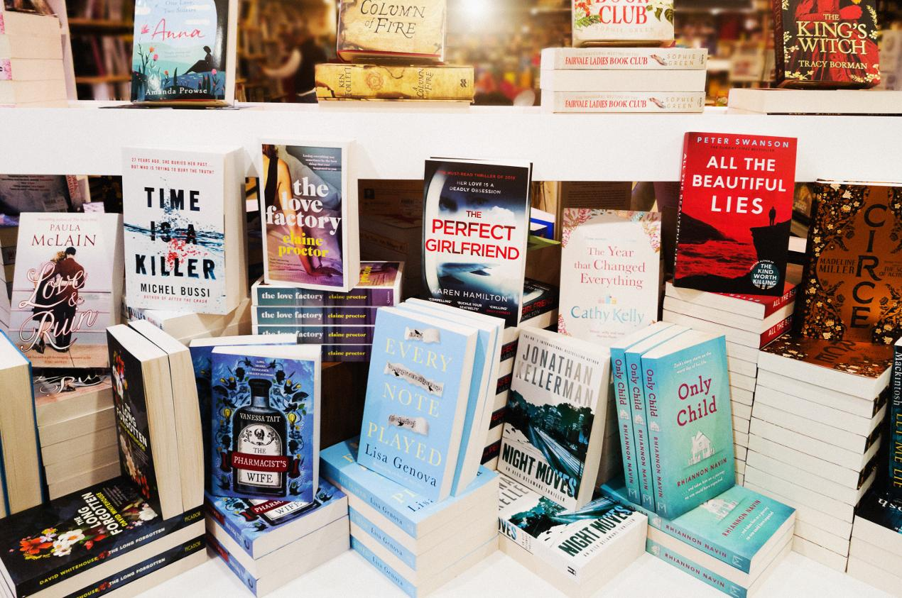książki w księgarni